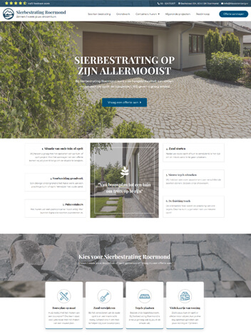 Sierbestrating Roermond website