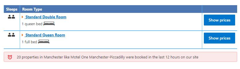 Booking.com verlies aversie