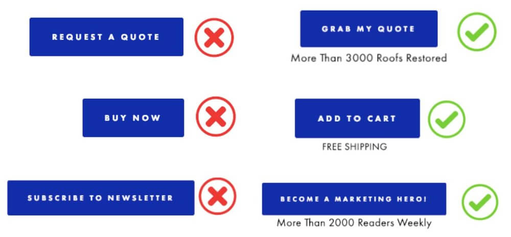 Call-to-Action buttons voorbeelden