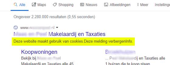 Blijf weg van cookie meldingen op je website.