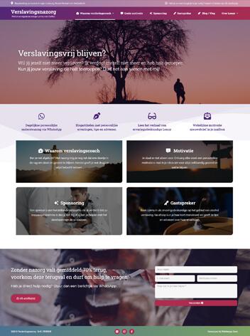 Verslavingsnazorg conversie website van Lonny van Oeffelt