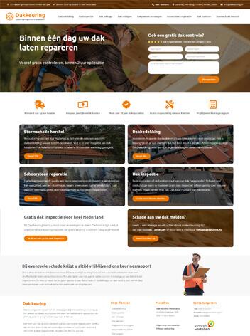 Dakkeuring Conversie Website Nederland